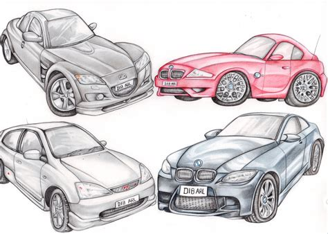 cars drawings car drawings in pencil collection for free