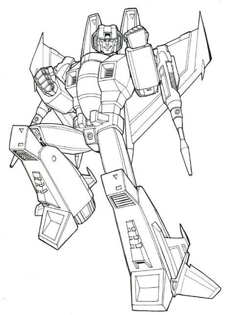 transformers g1 coloring page transformer starscream free colouring pages