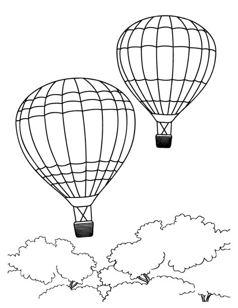 printable coloring pages balloons air balloons coloring pages coloring home