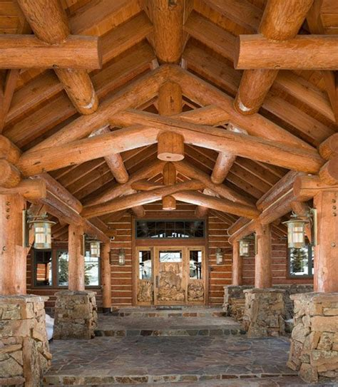 building log cabin homes 1000 images about beautiful structural decorative trusses on pinterest stains rocky
