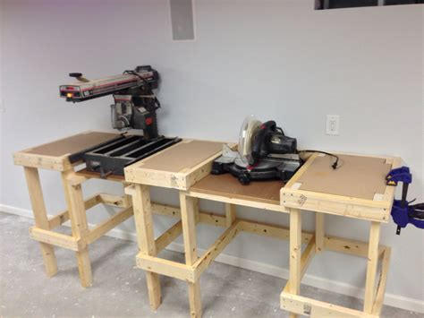 miter bench radial arm and miter saw bench bench woodworking and