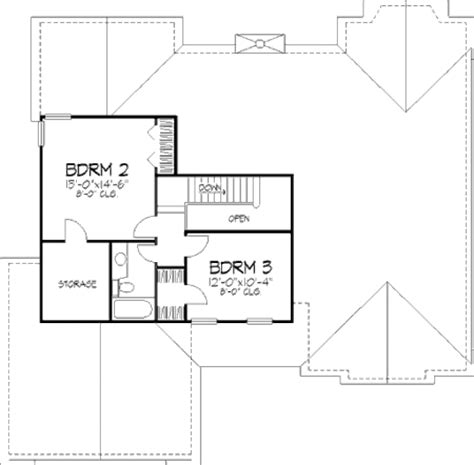 2200 square feet traditional style house plan 3 beds 3 baths 2200 sq ft