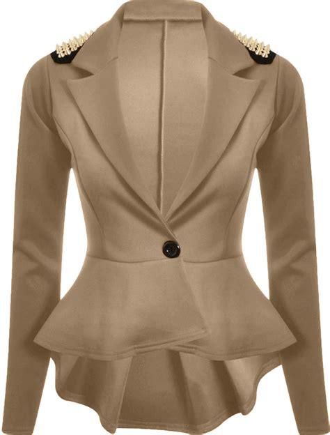 gold pattern blazer new womens plus size gold studded peplum blazer jacket