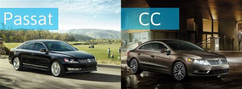 volkswagen cc vs passat differences between 2015 vw passat vs 2015 vw cc