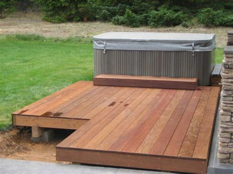 pit in a deck wood decks propane pits wood decks