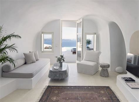 house interior division design cave like villa in greece with sculptured living spaces