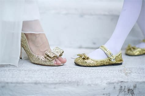 Gold Sparkly Bridal Shoes by Sparkly Gold Wedding Shoes Onewed