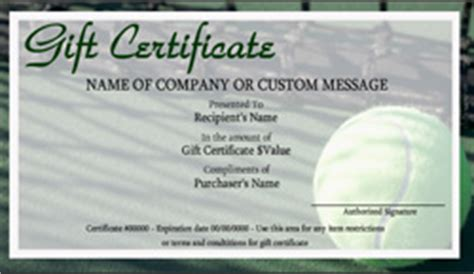 tennis gift certificate template tennis gift certificate templates easy to use gift