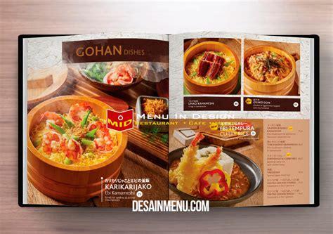design menu restoran desain daftar menu