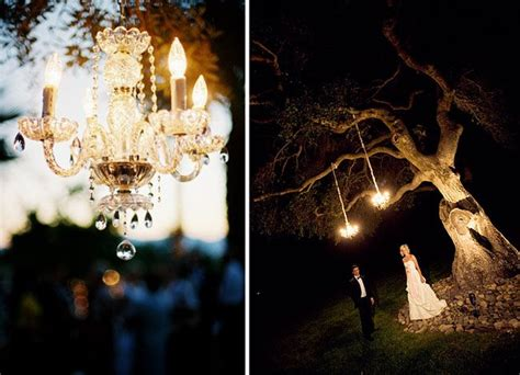 Chandeliers In Trees Modern Rustic Chandeliers In Trees Tents Green Wedding Shoes Weddings Fashion Lifestyle
