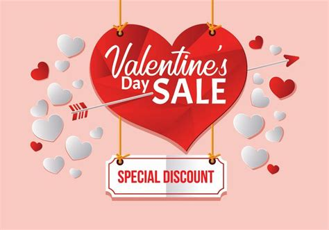 day poster template big valentines day sale poster template vector