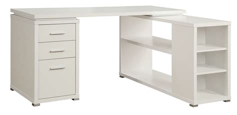l desk white yvette white l shape desk from coaster 800516 coleman