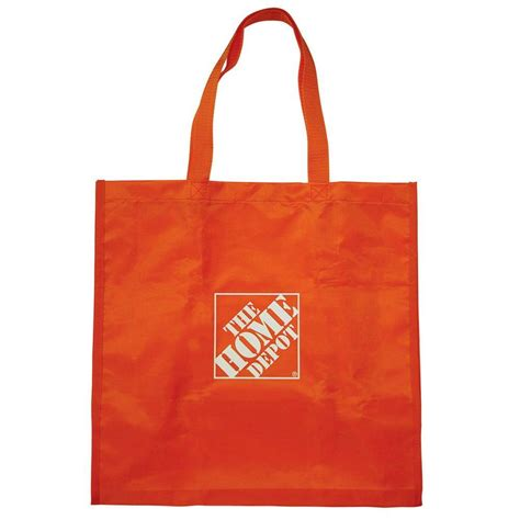 home depot shopping the home depot 7 25 in reusable shopping bag hdrubag