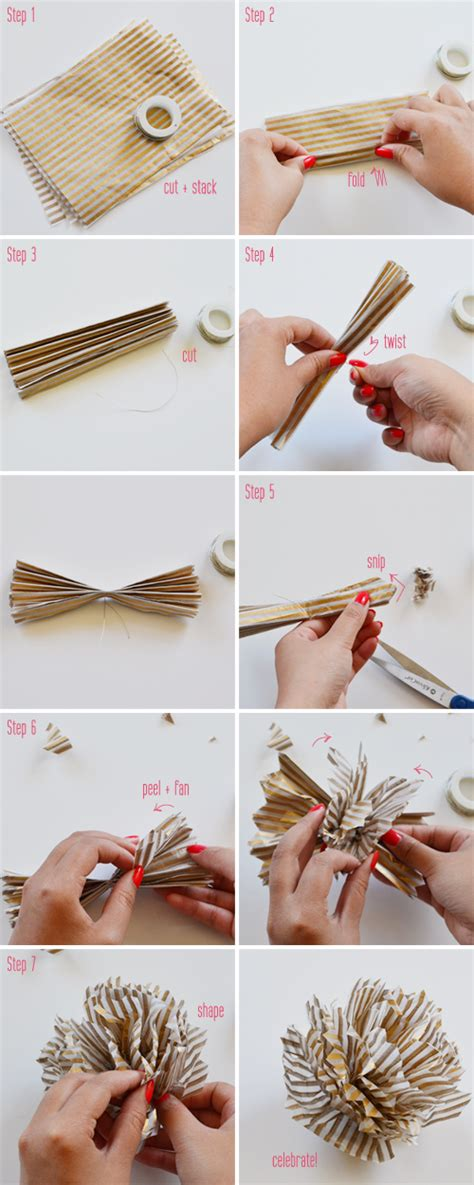How To Make Pom Poms Out Of Paper - the yuppie lifestyle pom poms across the pond
