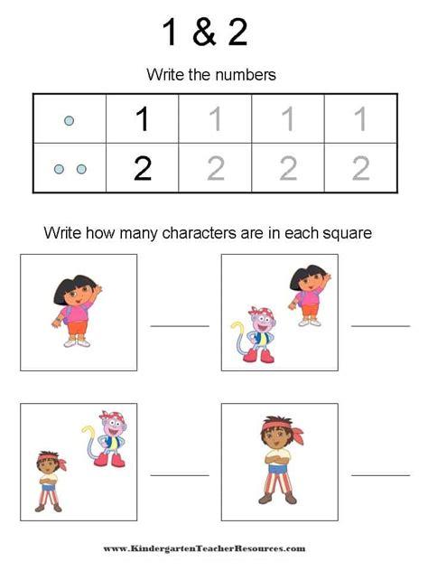 dora printable preschool activities dora the explorer number worksheets
