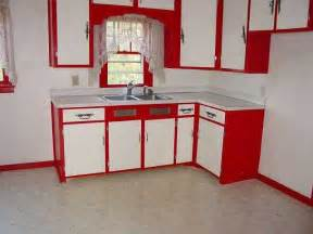 Red And White Kitchen Cabinets Nibefalgo Red And White Kitchen