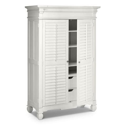 plantation cove white bedroom armoire value city