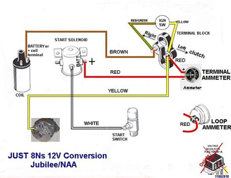 ford 8n wiring diagram for 12v conversion ford 2000