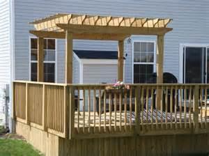 Pergola Deck Plans by Back Deck Pergolas Woodguides