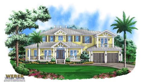 2 Story Waterfront House Plan Coastal Style Outdoor Arbordale House Plan
