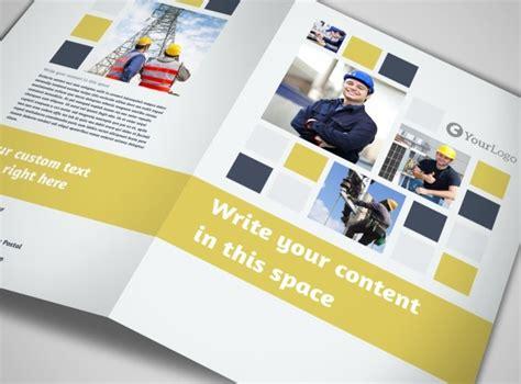 brochure templates electrical electrical service bi fold brochure template