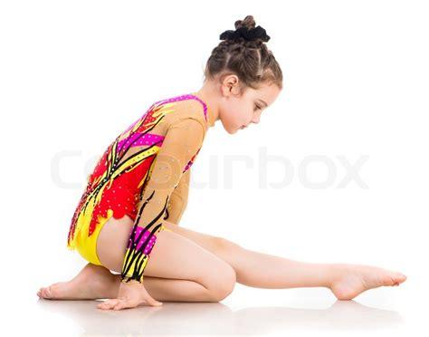 gymnastic little girl little girl gymnast stock photo colourbox