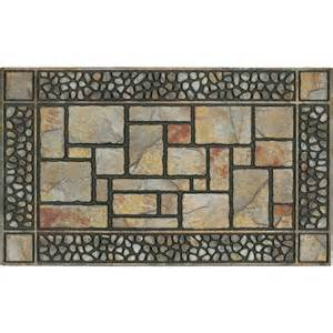 mohawk home recycled rubber door mat patio stones 18 quot x