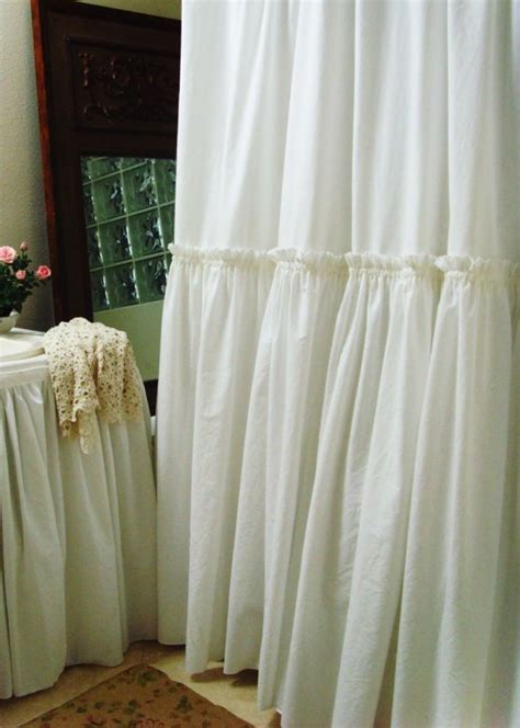 white ruffle shower curtain items similar to white ruffle shower curtain by simple