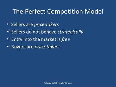 Business Ppt For Mba by Micro Economics Business And Competitive Markets Ppt Mba