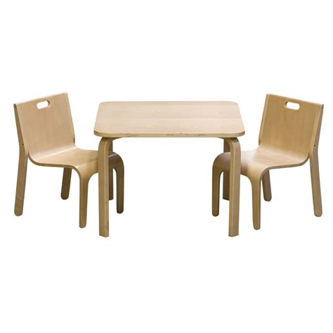 set table et 2 chaises au design scandinave pour enfant