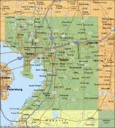 hillsborough county florida map map of hillsborough county