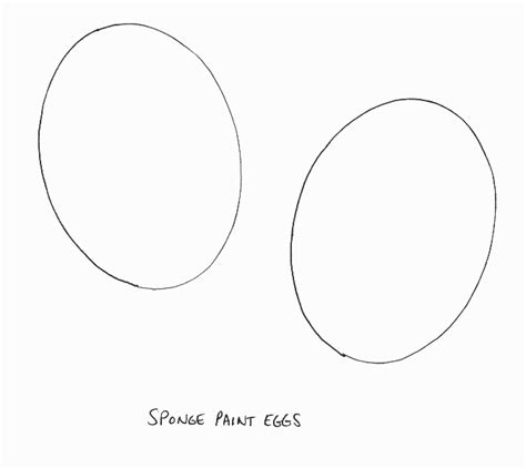 easter crafts print your small easter egg template all