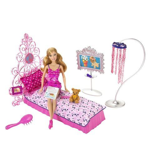 barbie decor collection bedroom playset desk chair bed oggi e il compleanno di barbie venividivici
