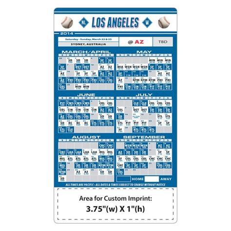 custom los angeles dodgers baseball team schedule magnets
