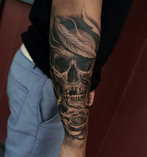skull tattoo sleeve designs for men 40 awesome skull designs
