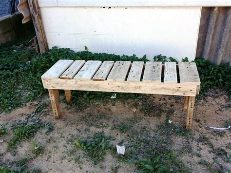 rustic pallet bench pallet benches for garden