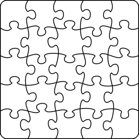 black and white printable jigsaw puzzles clipart i2clipart royalty free public domain clipart