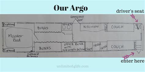 bus conversion floor plans our argo bus conversion floor plan unlimited4life