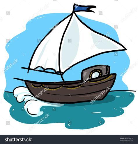 boat ocean drawing boat illustration sailboat sailing in the ocean drawing