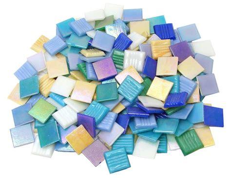 Delfi Mix 1 3 4 quot iridized glass tiles value mix 1 lb packs delphi