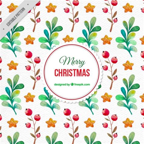 watercolor floral pattern vector free download watercolor floral christmas pattern vector free download