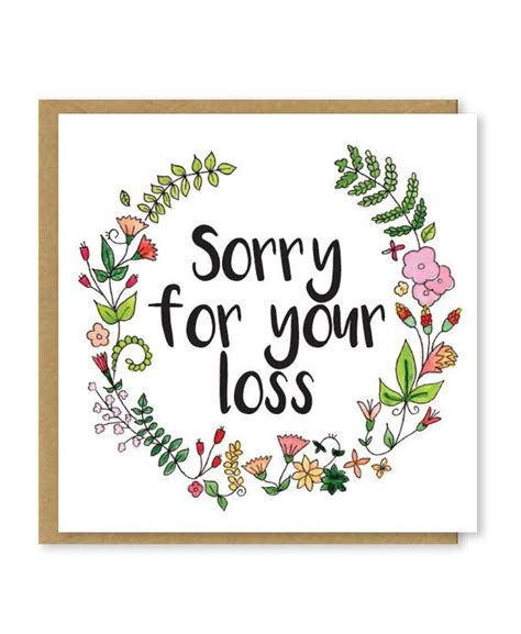 Sorry For Your Loss Cards Free sorry for your loss sympathy card floral bereavement