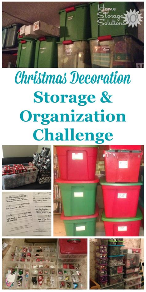 christmas decoration storage challenge organizing holiday