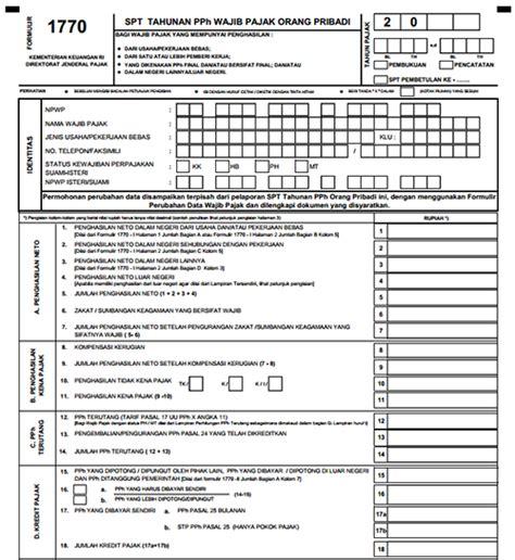 formulir spt pajak 2016 cara menyaikan spt tahunan 2016