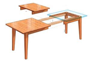 Extension Dining Table Plans Extension Dining Table Finewoodworking