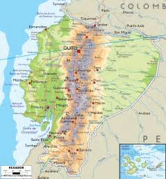 maps of physical map of ecuador ezilon maps
