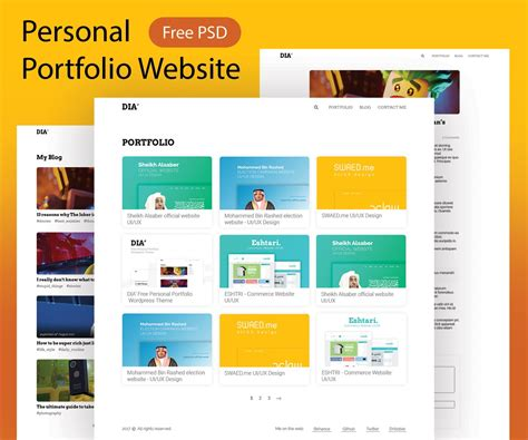 Personal Portfolio Website Template Psd Download Download Psd Personal Portfolio Template Free