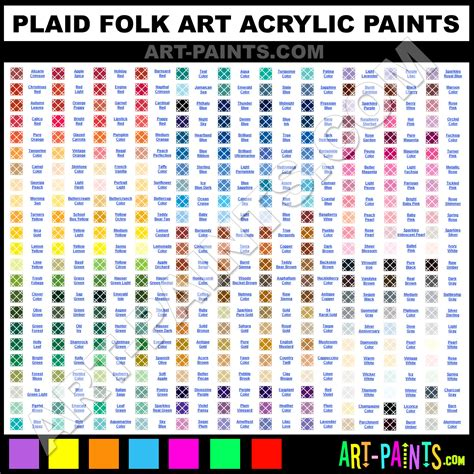 plaid folk acrylic paint colors plaid folk paint colors folk color folk