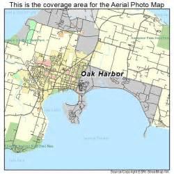 aerial photography map of oak harbor wa washington
