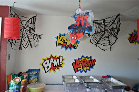 birthday themes spiderman a spidery spider man birthday party building our story
